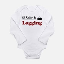 Funny Logging Long Sleeve Infant Bodysuit