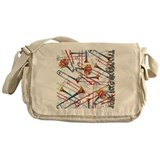 Trombone Canvas Messenger Bags