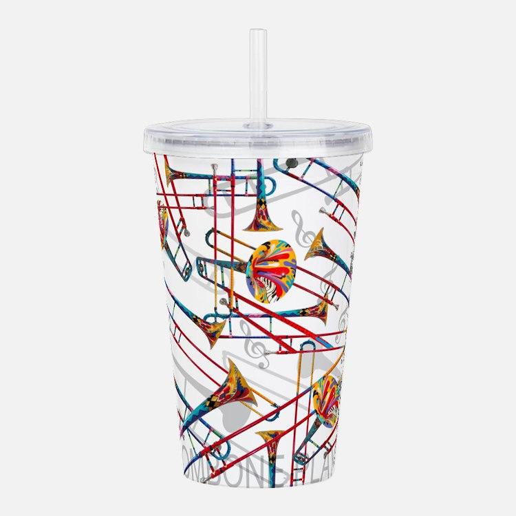 Trombone Player Trombo Acrylic Double-wall Tumbler