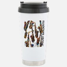 Saxophone Player Musica Stainless Steel Travel Mug