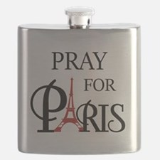 Pray For Paris Flask
