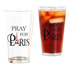 Pray For Paris Drinking Glass