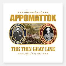 """Appomattox (FH2) Square Car Magnet 3"""" x 3"""""""