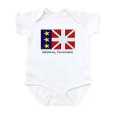 Gettysburg PA Flag Infant Bodysuit