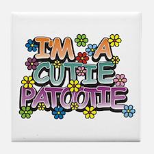 A Cutie Patootie Tile Coaster