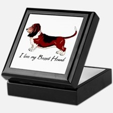 I Love my Basset Keepsake Box