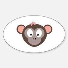 Monkey with pink ribbon Decal
