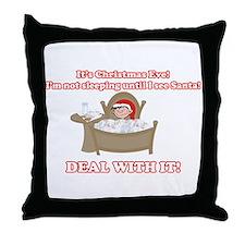 Christmas Morning Kid Throw Pillow
