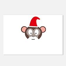 Monkey Santa Postcards (Package of 8)