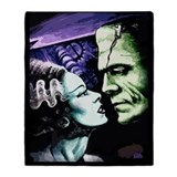 Frankenstein and bride Fleece Blankets