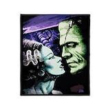 Frankenstein and bride Fleece Blankets