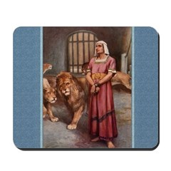 Daniel in the Lion's Den - Dixon - Mousepad