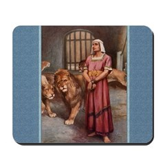Daniel in the Lion's Den - Dixon - Mousepad