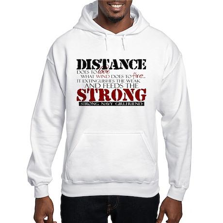 Feeds the strong: Navy Girlfr Hooded Sweatshirt