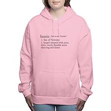 Cute Newspaper Women's Hooded Sweatshirt