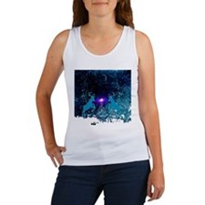 Awesome reindeer with christmas tree Tank Top