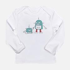 Funny Robot boy Long Sleeve Infant T-Shirt
