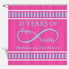 Romantic Couples Personalized Anniv Shower Curtain