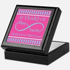 Romantic Couples Personalized Anniver Keepsake Box