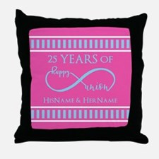 Romantic Couples Personalized Anniver Throw Pillow