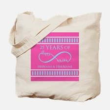 Romantic Couples Personalized Anniversary Tote Bag