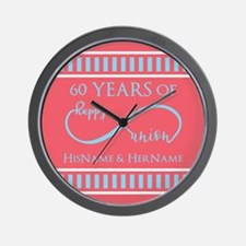 Personalized 60th Anniversary Infinity Wall Clock