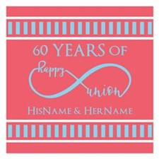 Personalized 60th Anniversa 5.25 x 5.25 Flat Cards