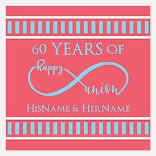 Personalized 60th Anniversa Invitations