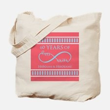 Personalized 60th Anniversary Infinity Tote Bag