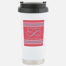 Personalized 60th Anniv Stainless Steel Travel Mug