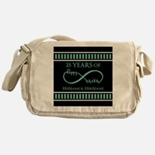 Infinity 25th Wedding Anniversary Pe Messenger Bag