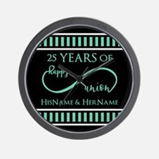 Infinity 25th Wedding Anniversary Perso Wall Clock
