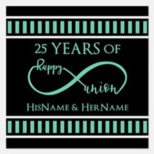 Infinity 25th Wedding Anniv 5.25 x 5.25 Flat Cards