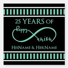 "Infinity 25th Wedding An Square Car Magnet 3"" x 3"""