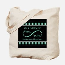 Infinity 25th Wedding Anniversary Persona Tote Bag