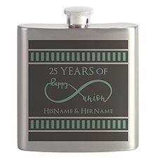 Infinity 25th Wedding Anniversary Personaliz Flask