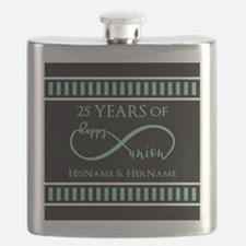 Infinity 25th Wedding Anniversary Personaliz Flask