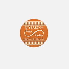 Orange Infinity Custom Wedding Anniver Mini Button