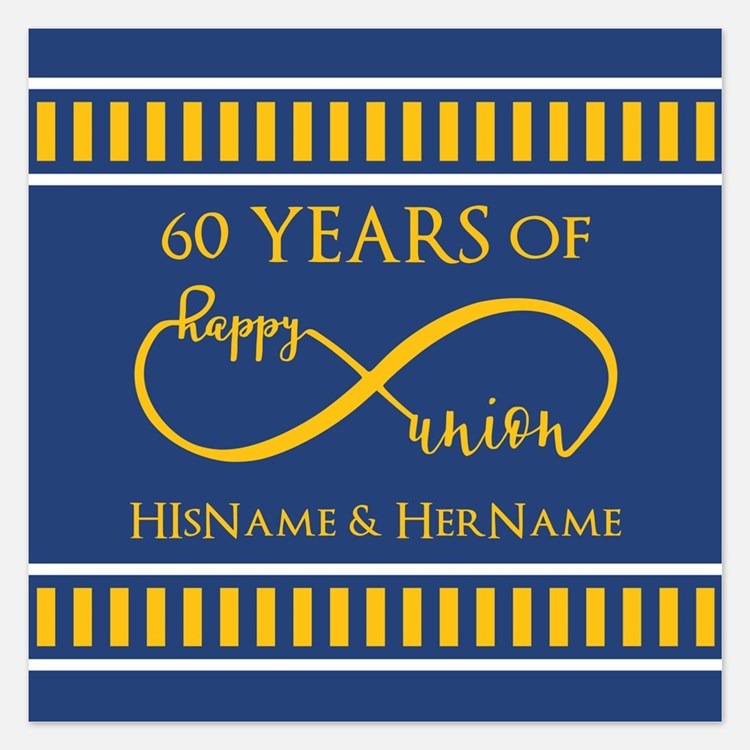 60th Wedding Anniversary Invitations For 60th Wedding