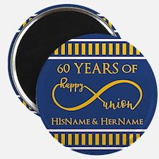 Custom Infinity 60th Wedding Anniversary Magnet