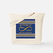 Custom Infinity 60th Wedding Anniversary Tote Bag