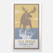 Cute Moose Sticker (Rectangle)