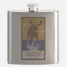Isle Royale Moose National Park Flask