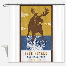 Isle Royale Moose National Park Shower Curtain