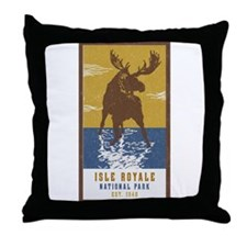 Isle Royale Moose National Park Throw Pillow
