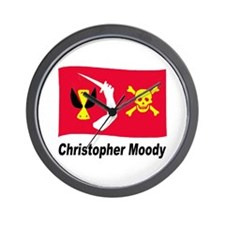Pirate Flag - Christopher Moody Wall Clock