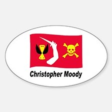 Pirate Flag - Christopher Moody Oval Decal