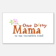 Ditsy Moma Rectangle Decal