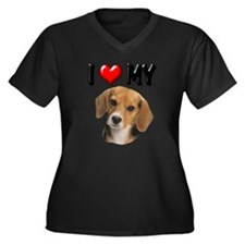 Cute Cute best friend saying Women's Plus Size V-Neck Dark T-Shirt