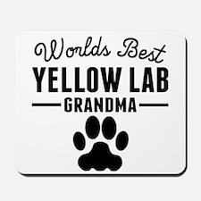 Worlds Best Yellow Lab Grandma Mousepad